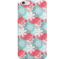 Winter Christmas Snowflakes Pattern iPhone Case/Skin