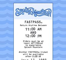 Splash Mountain Fastpass by Margybear