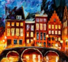 Amsterdam, Canal — Buy Now Link - www.etsy.com/listing/176889283 Sticker