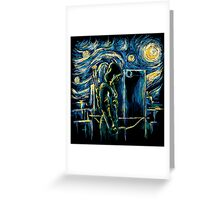 Starling Night (Arrow & Van Gogh) Greeting Card