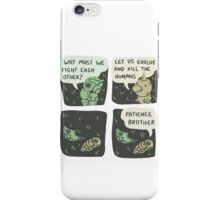 caterpie and weedle lol conversation iPhone Case/Skin