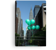 Green Balloons in New York Canvas Print