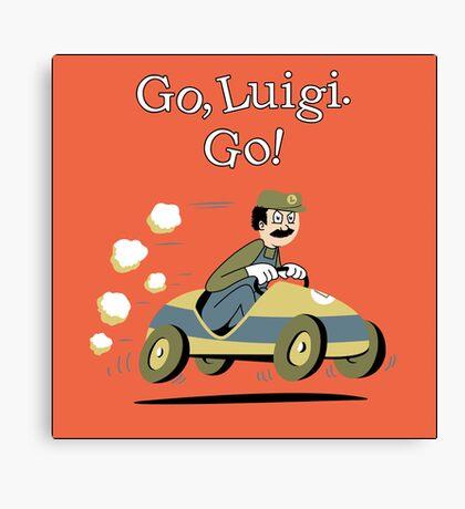 Go, Luigi. Go! Canvas Print