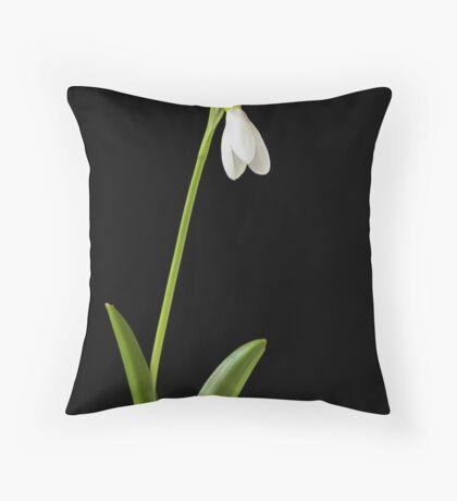 Snowdrop Throw Pillow