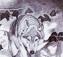 Grey Wolf (pencil) by Deborah Duvall