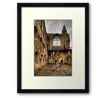Learning History at a Young Age Framed Print