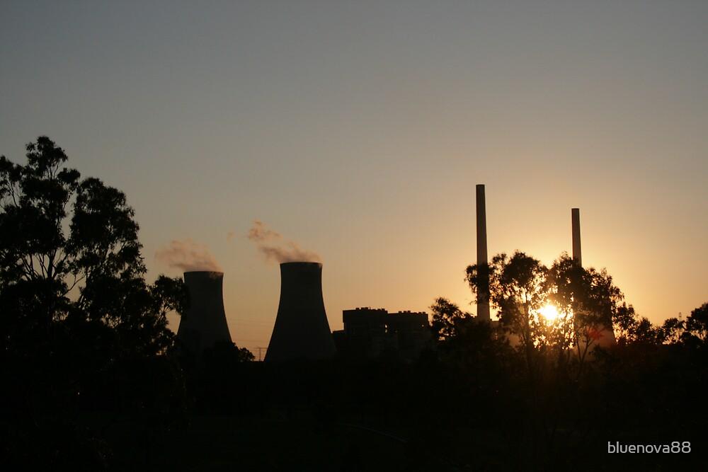 Sunset at Newcastle Powerstation by bluenova88