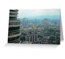 Cityscape V - Kuala Lumpur, Malaysia. Greeting Card