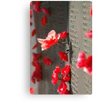 Poppies on the Memorial War (1) Canvas Print