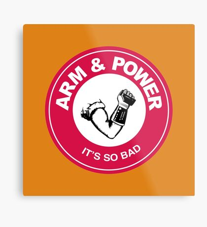 ARM & POWER Metal Print