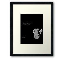 pikachu inspirational phrase Framed Print