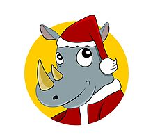Christmas Rhinoceros  Photographic Print