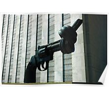 Twisted Handgun at the United Nations (Painted Version) Poster