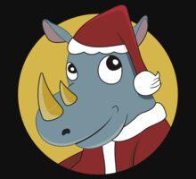 Christmas Rhinoceros  Baby Tee