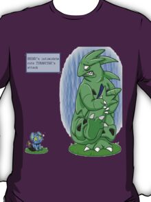 shinx intimidating tyranitar  T-Shirt