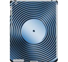 Vinyl LP Record - Metallic - Blue iPad Case/Skin