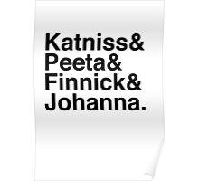 Katniss & Peeta & Finnick & Johanna. Poster