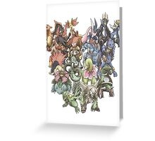 all starters pokemons cool design Greeting Card