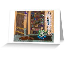Wizard Want-to-be. Greeting Card