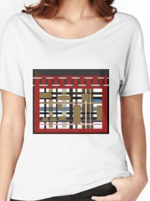 ODD one IN RUSTIC modern CABIN PATCHWORK DESIGN GIFTS & DECOR Women's Relaxed Fit T-Shirt