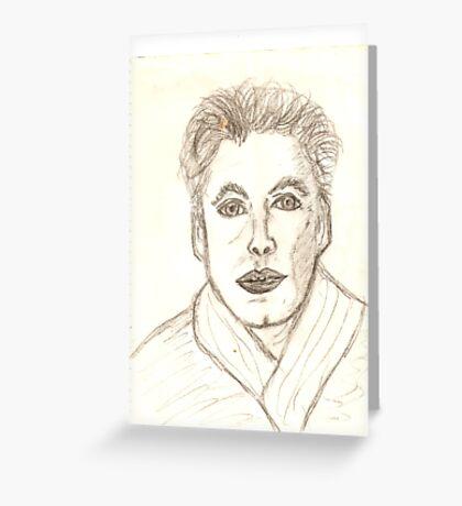 Portrait of Ken Drawing Greeting Card
