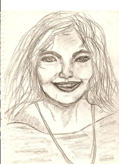 Portrait of Vivianne Drawing by karen66