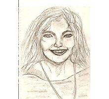 Portrait of Vivianne Drawing Photographic Print
