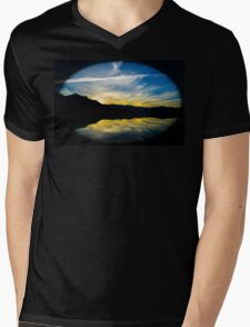 Sunset  Revelstoke B,C Mens V-Neck T-Shirt