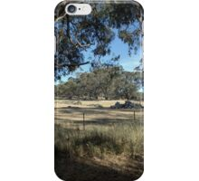 Woodpile In A Paddock iPhone Case/Skin