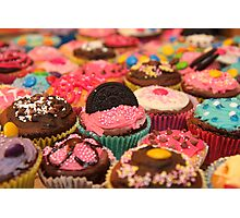 Cupcake Rainbow Photographic Print