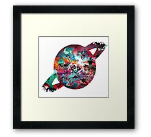 Saturn's Face Framed Print