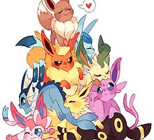 eevee cool evolutions design  by pokemonlover89