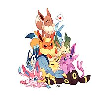 eevee cool evolutions design  Photographic Print