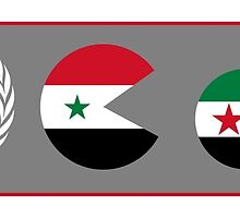 United Nations, is watching Syria by piedaydesigns