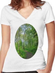 Country path  Women's Fitted V-Neck T-Shirt