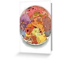 eeve's evolutions in a pokeball Greeting Card