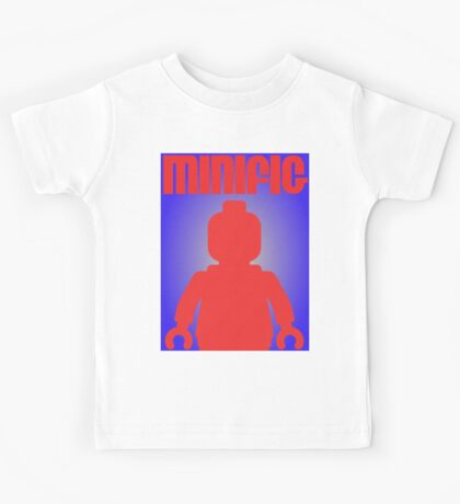 Retro Large Black Minifig, Customize My Minifig Kids Tee