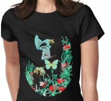 TSHIRT Floral Transparency Study Womens Fitted T-Shirt