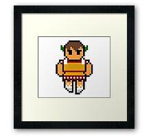 Pixel Caeser Framed Print