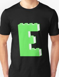 THE LETTER E, Customize My Minifig T-Shirt