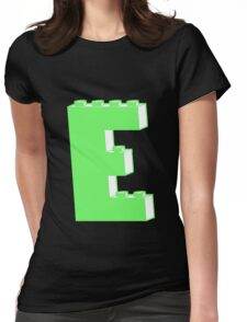 THE LETTER E, Customize My Minifig Womens Fitted T-Shirt