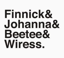 Finnick & Johanna & Beetee & Wiress. by Samantha Weldon