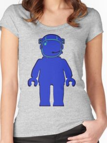 Banksy Style Astronaut Minifigure Women's Fitted Scoop T-Shirt