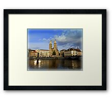 Limmat at Dusk Framed Print