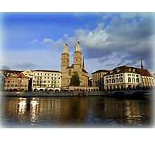 Limmat at Dusk Photographic Print