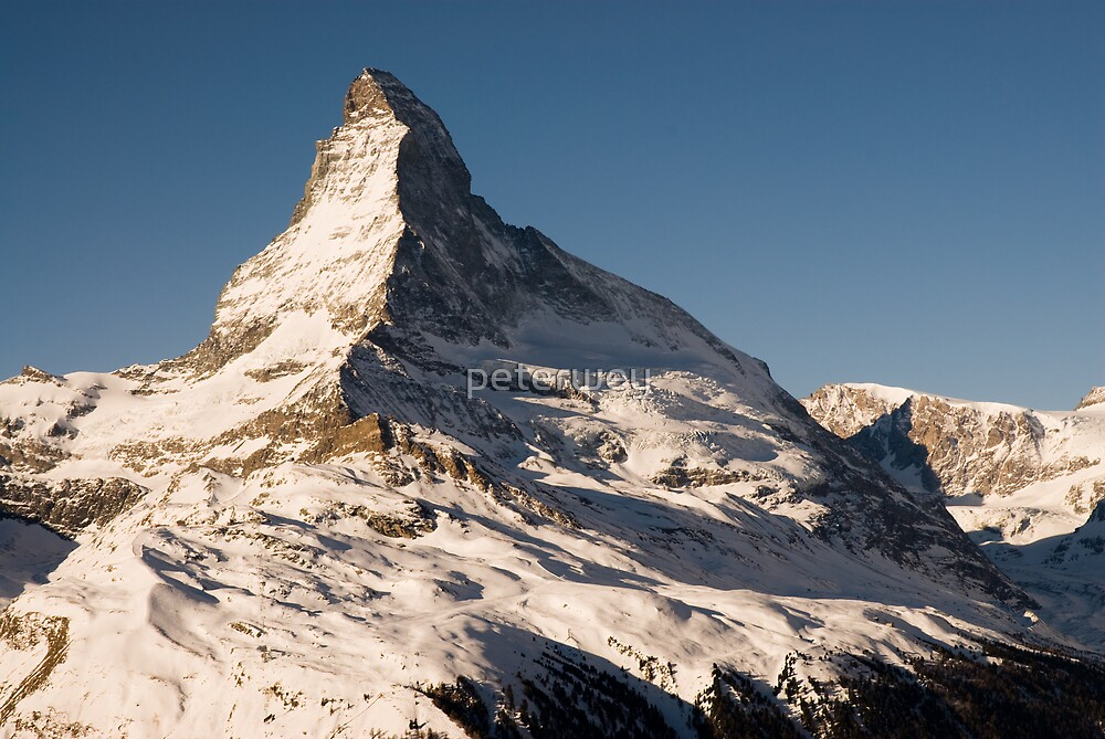 Matterhorn with clear blue sky. by peterwey