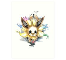 eevee with many tails evolutions Art Print