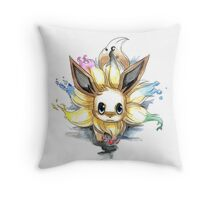 eevee with many tails evolutions Throw Pillow