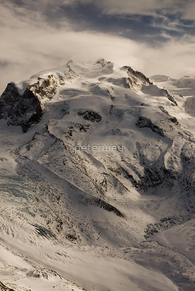 Monte Rosa in winter by peterwey