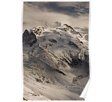 Monte Rosa in winter Poster
